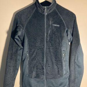 Patagonia R black logo fleece full zip jacket